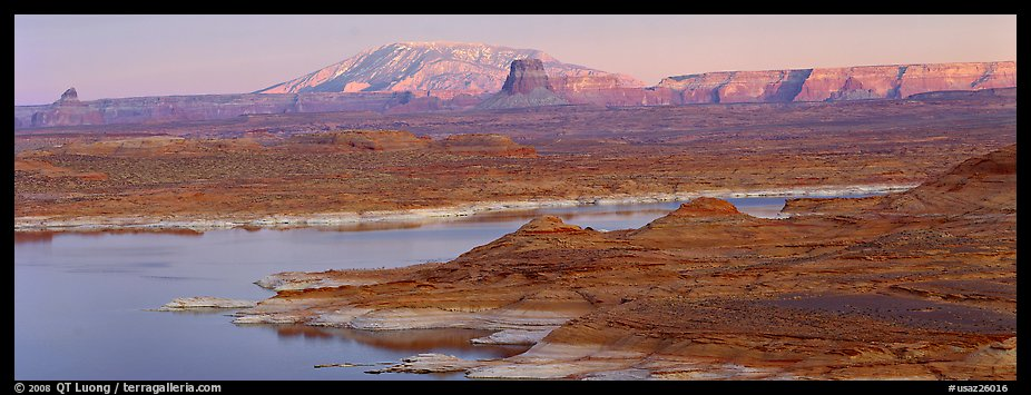 Lake Powell landscape, Glen Canyon National Recreation Area, Arizona. USA (color)