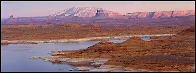 Lake Powell landscape, Glen Canyon National Recreation Area, Arizona. USA (Panoramic color)