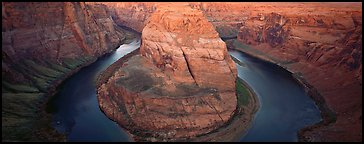 Colorado riverbend and cliffs. Arizona, USA (Panoramic color)