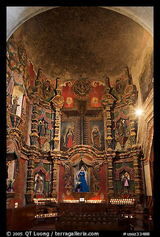 Altar, San Xavier del Bac Mission. Tucson, Arizona, USA