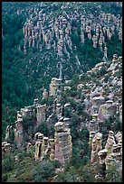 Rhyolite columns. Chiricahua National Monument, Arizona, USA ( color)