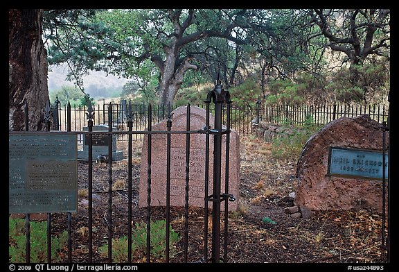 Erikson Cemetery. Chiricahua National Monument, Arizona, USA (color)