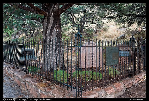Historic pioneer cemetery. Chiricahua National Monument, Arizona, USA (color)