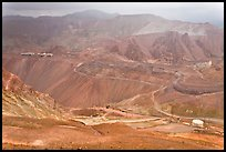 Copper mining operation, Morenci. Arizona, USA (color)