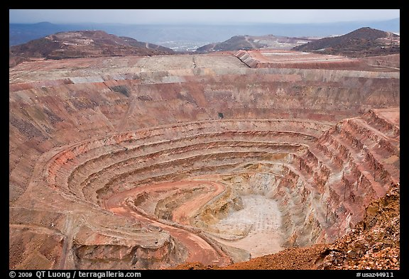 Open pit mine, Morenci. Arizona, USA (color)