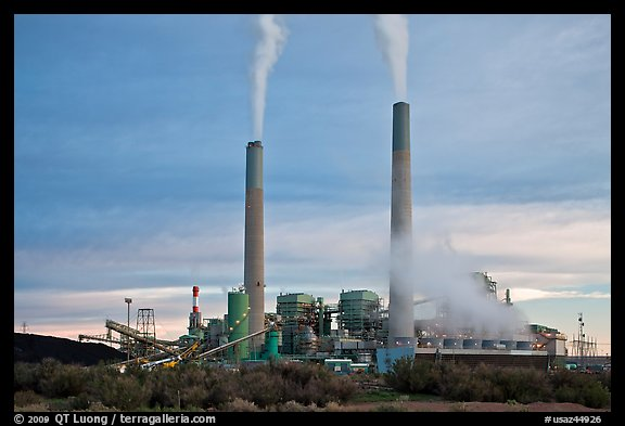 Coal fired power plant, Joseph City. Arizona, USA (color)