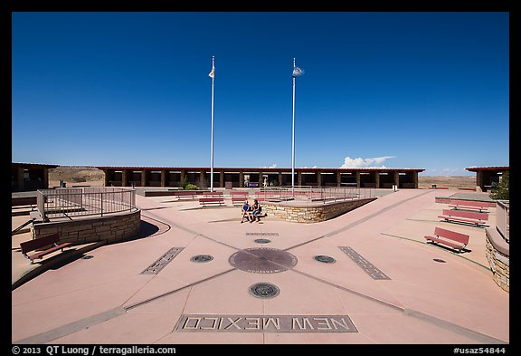 Quadripoint where the states of Arizona, Colorado, New Mexico, and Utah meet.. Four Corners Monument, Arizona, USA (color)