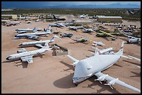 Aerial view of aircraft in Pima Air and space museum. Tucson, Arizona, USA ( color)
