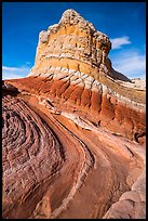 Multicolored rock formation, White Pocket. Vermilion Cliffs National Monument, Arizona, USA ( color)