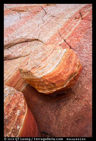 Detail of striations and rock, Coyote Buttes South. Vermilion Cliffs National Monument, Arizona, USA (color)