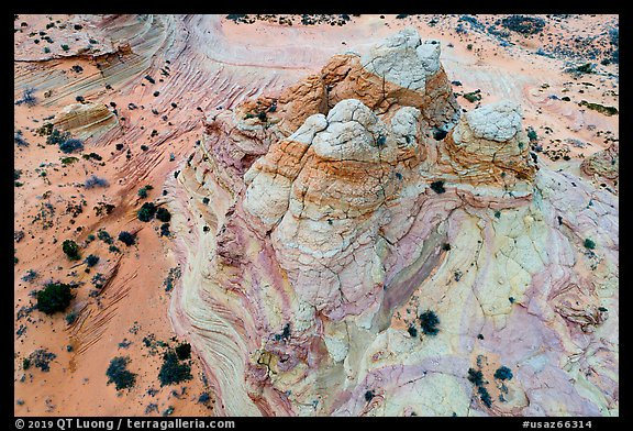 Aerial view of Teepee. Vermilion Cliffs National Monument, Arizona, USA (color)