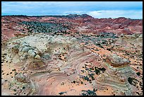 Aerial view of Coyotte Buttes South. Vermilion Cliffs National Monument, Arizona, USA ( color)