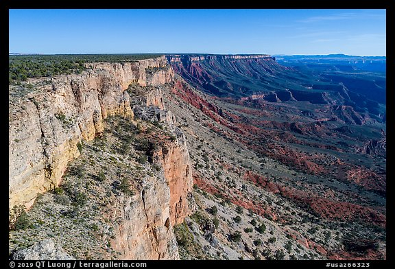 Grand Canyon rim Cliffs. Parashant National Monument, Arizona, USA (color)