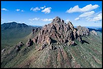 Aerial view of Ragged Top Mountain. Ironwood Forest National Monument, Arizona, USA ( color)