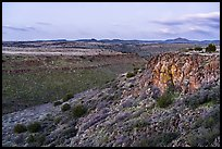 Silver Creek Canyon at dusk. Agua Fria National Monument, Arizona, USA ( color)