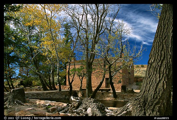 Winsor Castle. Pipe Spring National Monument, Arizona, USA (color)