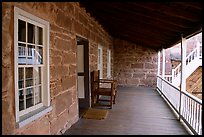 Interior porch of Winsor Castle. Pipe Spring National Monument, Arizona, USA ( color)