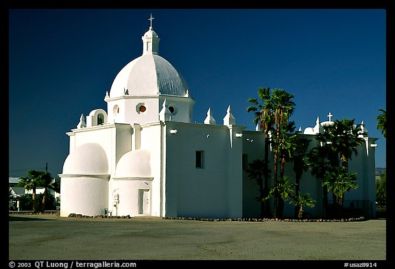 Immaculate Conception Catholic Church, Ajo. Arizona, USA (color)