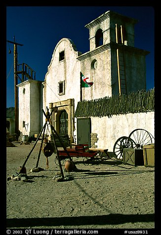 Adobe, Old Tucson Studios. Tucson, Arizona, USA (color)
