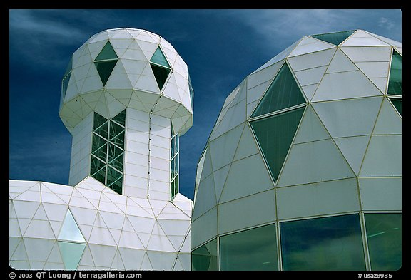 Tower and dome. Biosphere 2, Arizona, USA (color)