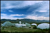 View of the complex. Biosphere 2, Arizona, USA ( color)