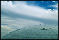 Dome and clouds. Biosphere 2, Arizona, USA ( color)