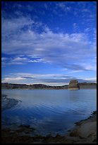 Wahweap Bay at sunset, Lake Powell, Glen Canyon National Recreation Area, Arizona. USA