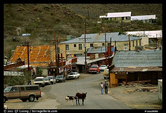 Main Street, Oatman. Arizona, USA (color)