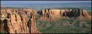 Mesa scenery. Colorado National Monument, Colorado, USA (Panoramic color)