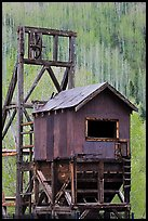 Historic mining structure, Rico. Colorado, USA (color)