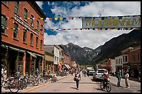 Main street. Telluride, Colorado, USA (color)