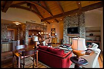 Residence lobby, Peaks resort, Mountain Village. Telluride, Colorado, USA ( color)
