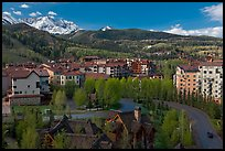 Mountain village, morning. Telluride, Colorado, USA ( color)