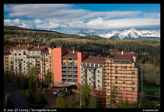 Peaks resort, spring morning. Telluride, Colorado, USA (color)