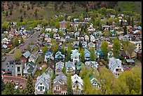 Town seen from above. Telluride, Colorado, USA ( color)