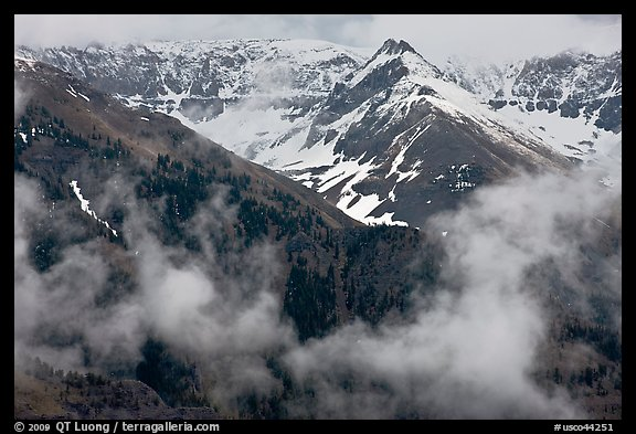 Snowy peaks and clouds. Telluride, Colorado, USA (color)