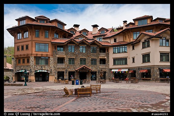 Plaza, Mountain Village. Telluride, Colorado, USA (color)