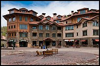 Plaza, Mountain Village. Telluride, Colorado, USA ( color)