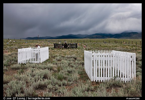 Graveyard, Villa Grove. Colorado, USA (color)