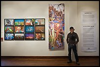 Aaron Huey and art installation, Ah Haa school for the arts. Telluride, Colorado, USA ( color)