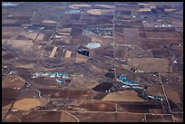 Aerial view of agricultural lands, Front Range. Colorado, USA (color)