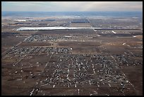 Aerial view of subdivision and plains. Colorado, USA ( color)