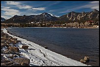 Lake Estes, late winter. Colorado, USA ( color)