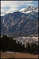 Estes Park, valley, and mountains. Colorado, USA ( color)