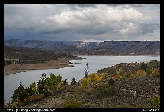 Autumn at Sapinero Basin, Blue Mesa Reservoir, Curecanti National Recreation Area. Colorado, USA (color)