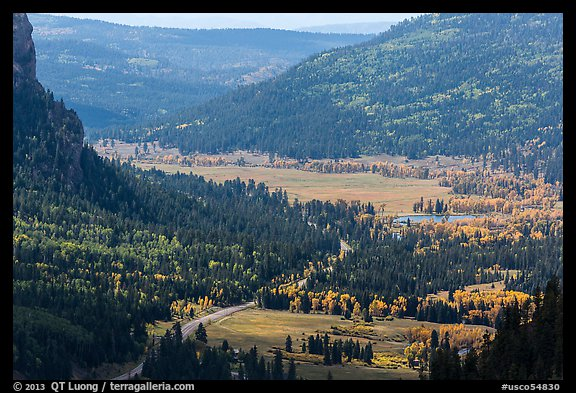 Pagosa Springs valley in autumn. Colorado, USA (color)