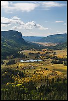 Pagosa Springs valley in the fall. Colorado, USA (color)