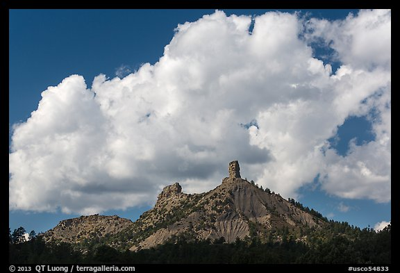 Clouds over Cimarron Range. Chimney Rock National Monument, Colorado, USA (color)