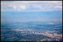 Aerial view of Denver and front range. Colorado, USA ( color)