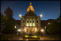 Colorado State Capitol at dusk. Denver, Colorado, USA ( color)